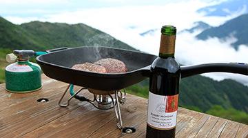 爺ヶ岳で肉を焼こう