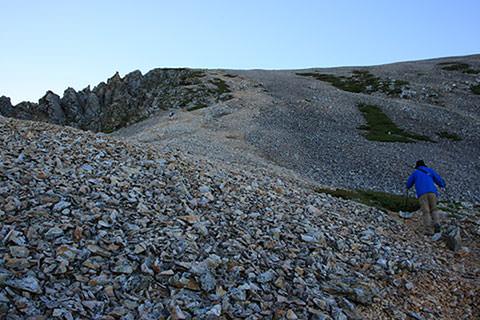 杓子岳 西側登山道