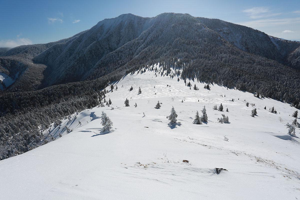 冬季の四阿山