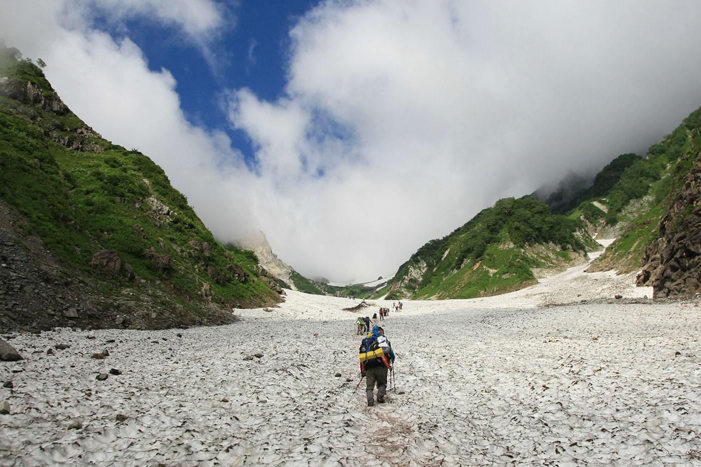 白馬岳といえば大雪渓