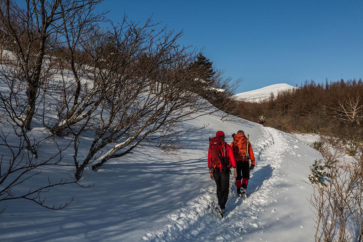 【安達太良山】登山百景-木が減って青空が広がる