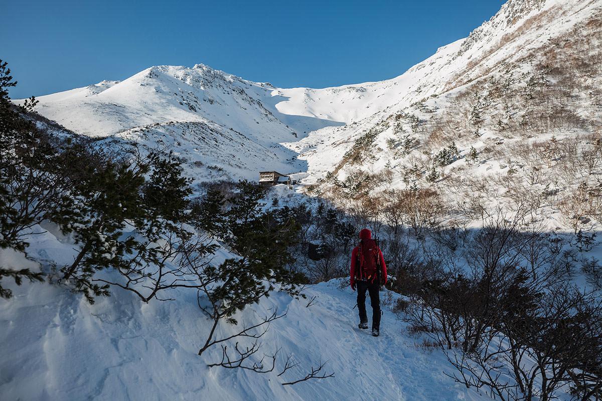 【安達太良山】登山百景-くろがね小屋が近づいてきた