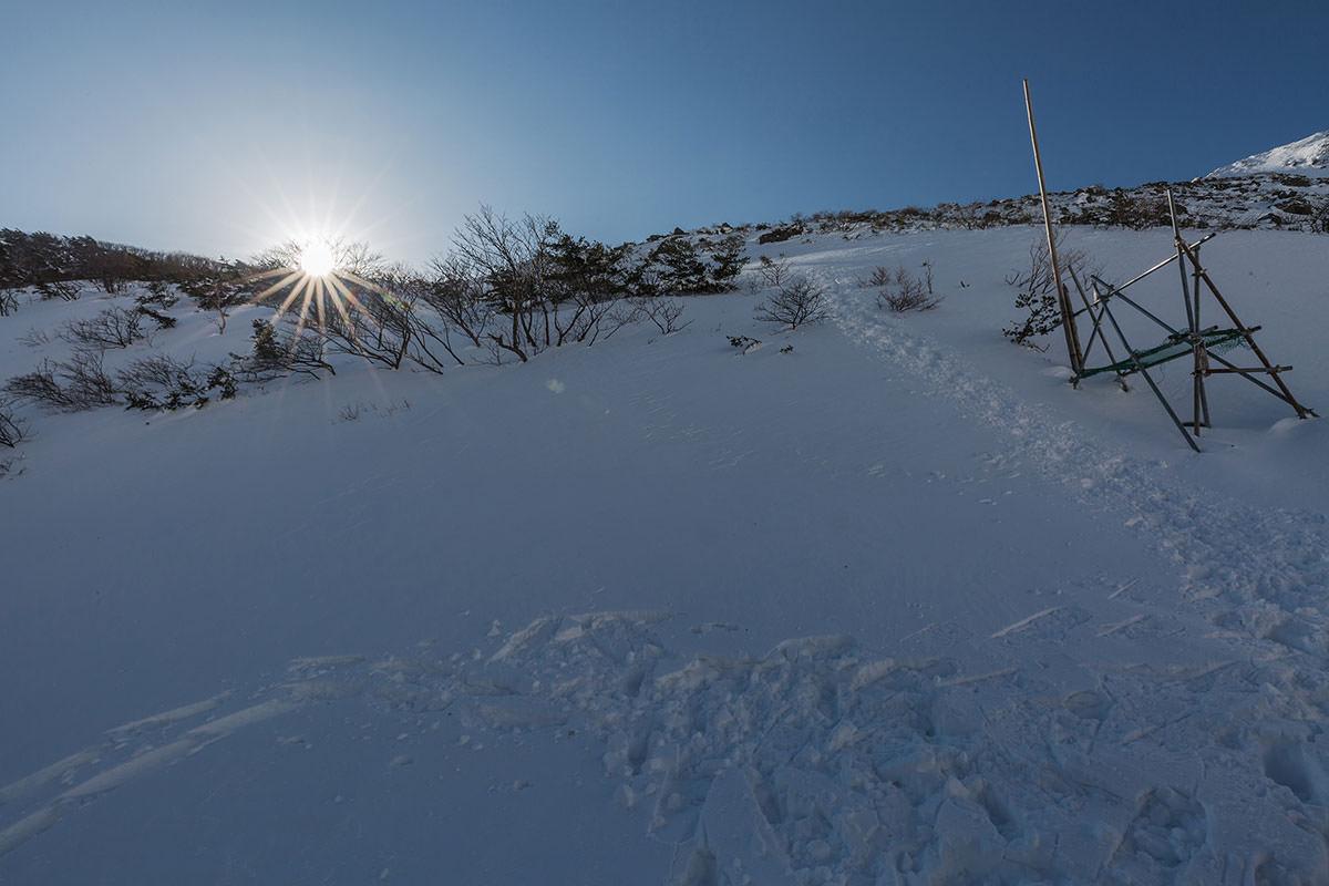 【安達太良山】登山百景-くろがね小屋からの急斜面