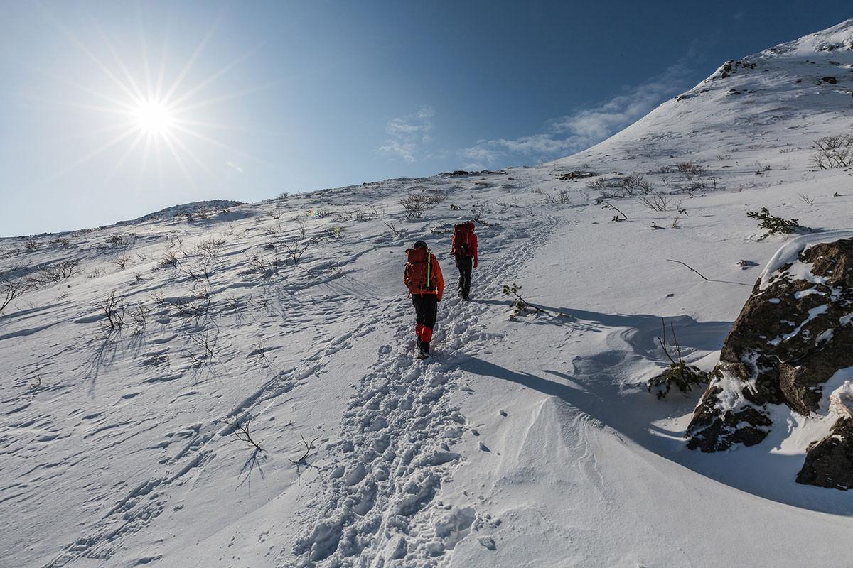 雪の登り坂