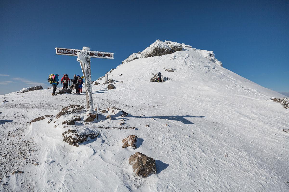 【安達太良山】登山百景-山頂部の突起