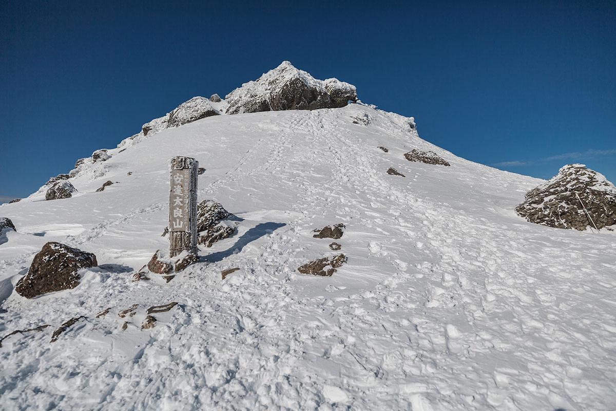 山頂への取り付き