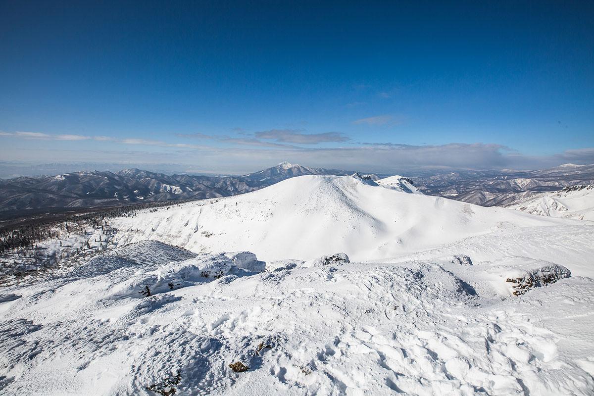 【安達太良山】登山百景-向こうに磐梯山