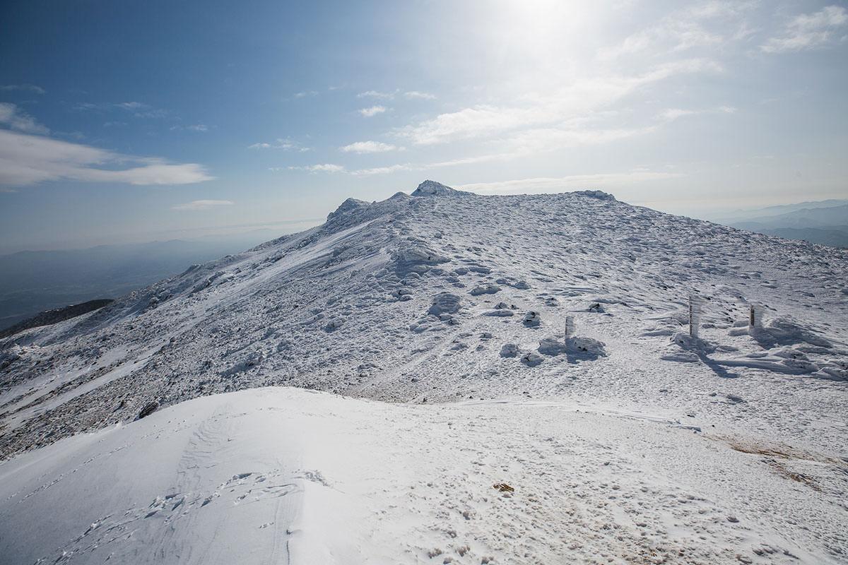 【安達太良山】登山百景-山頂の方を見る