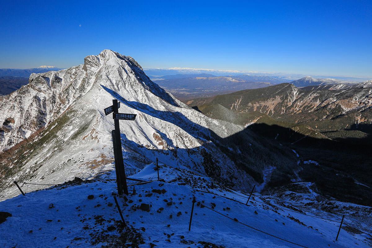 【赤岳】登山百景-文三郎尾根の標