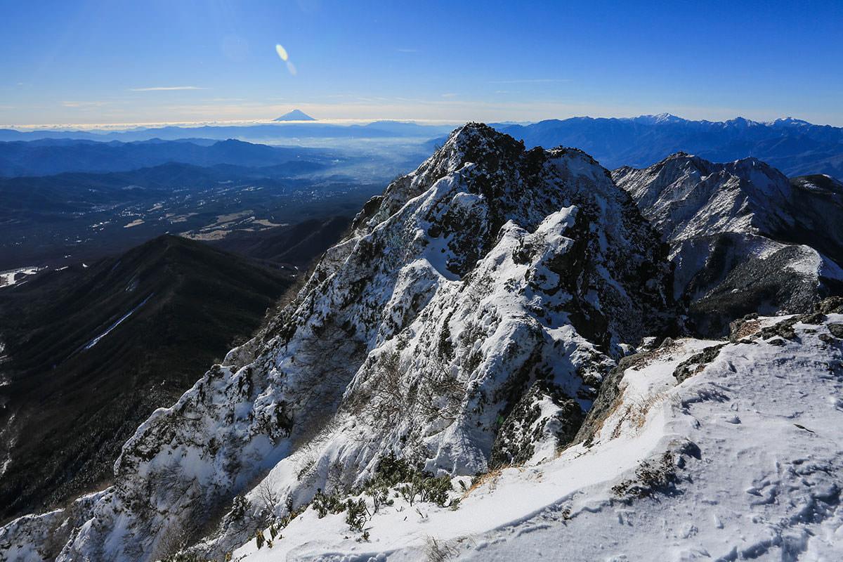 【赤岳】登山百景-遠くに富士山