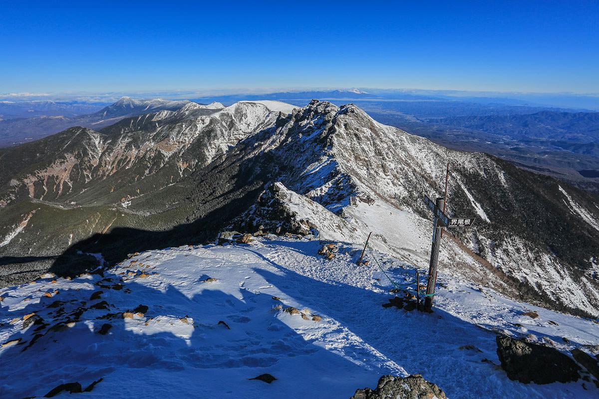 【赤岳】登山百景-赤岳から北の稜線