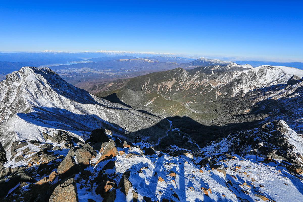 【赤岳】登山百景-北峰からの眺め
