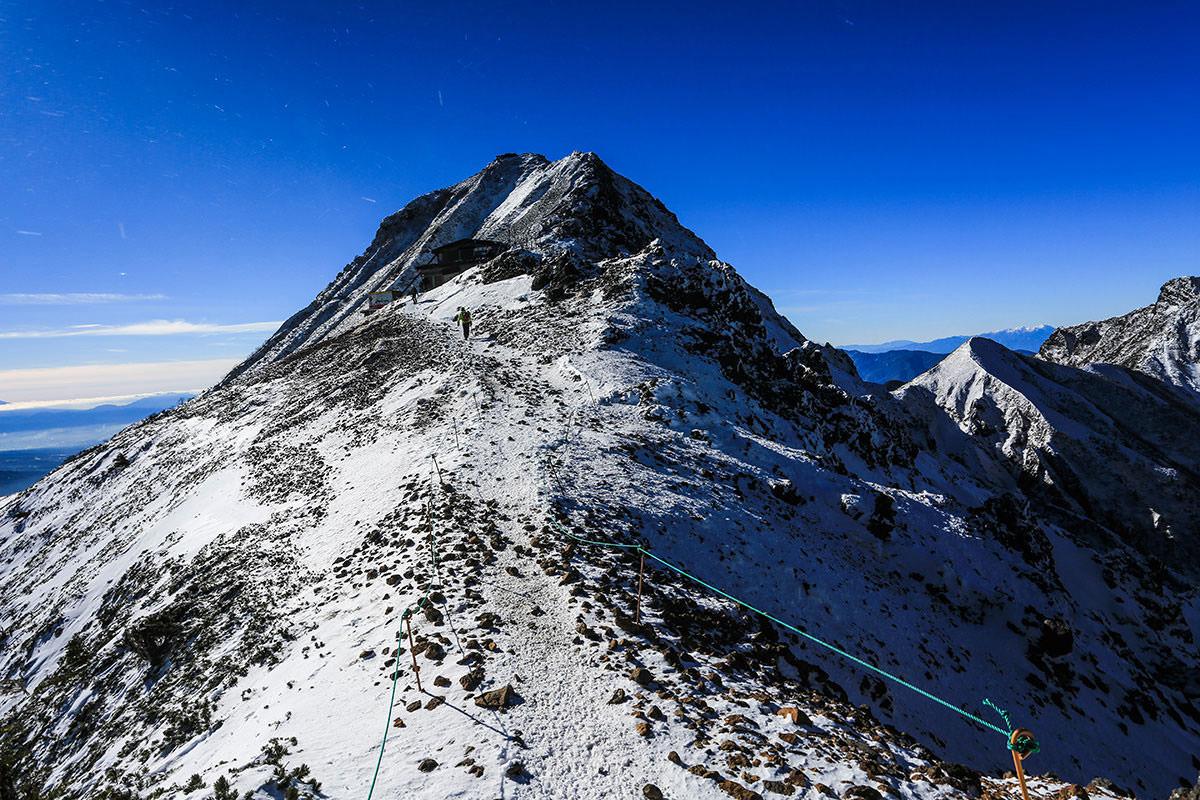 【赤岳】登山百景-地蔵尾根から赤岳を見る
