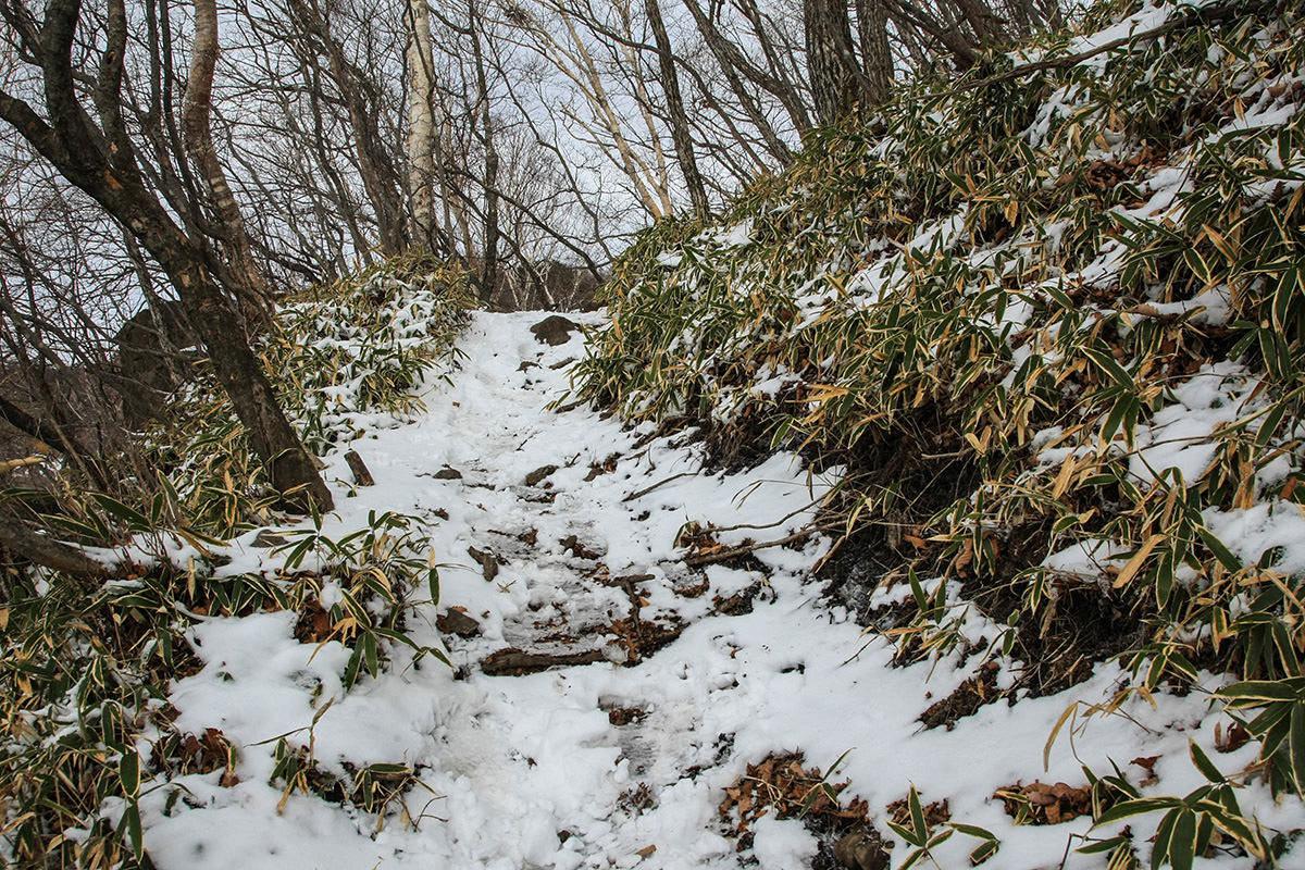 【赤城山】登山百景-ふかふかの雪