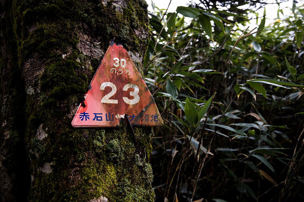 赤石山といえばこの標識