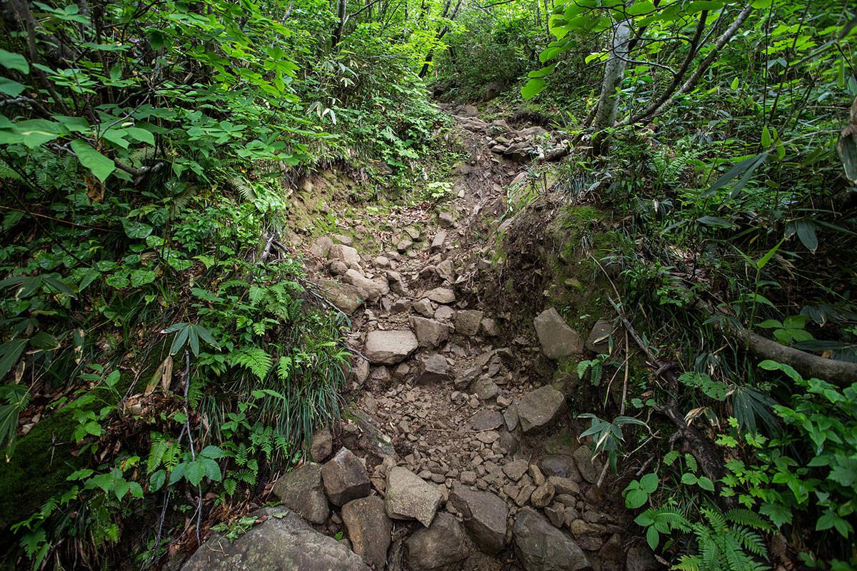 【雨飾山】登山百景-石だらけ