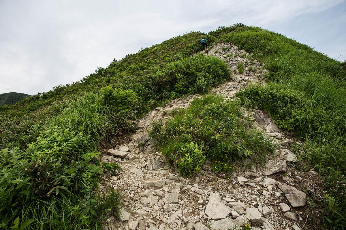 【雨飾山】登山百景-あの先が笹平
