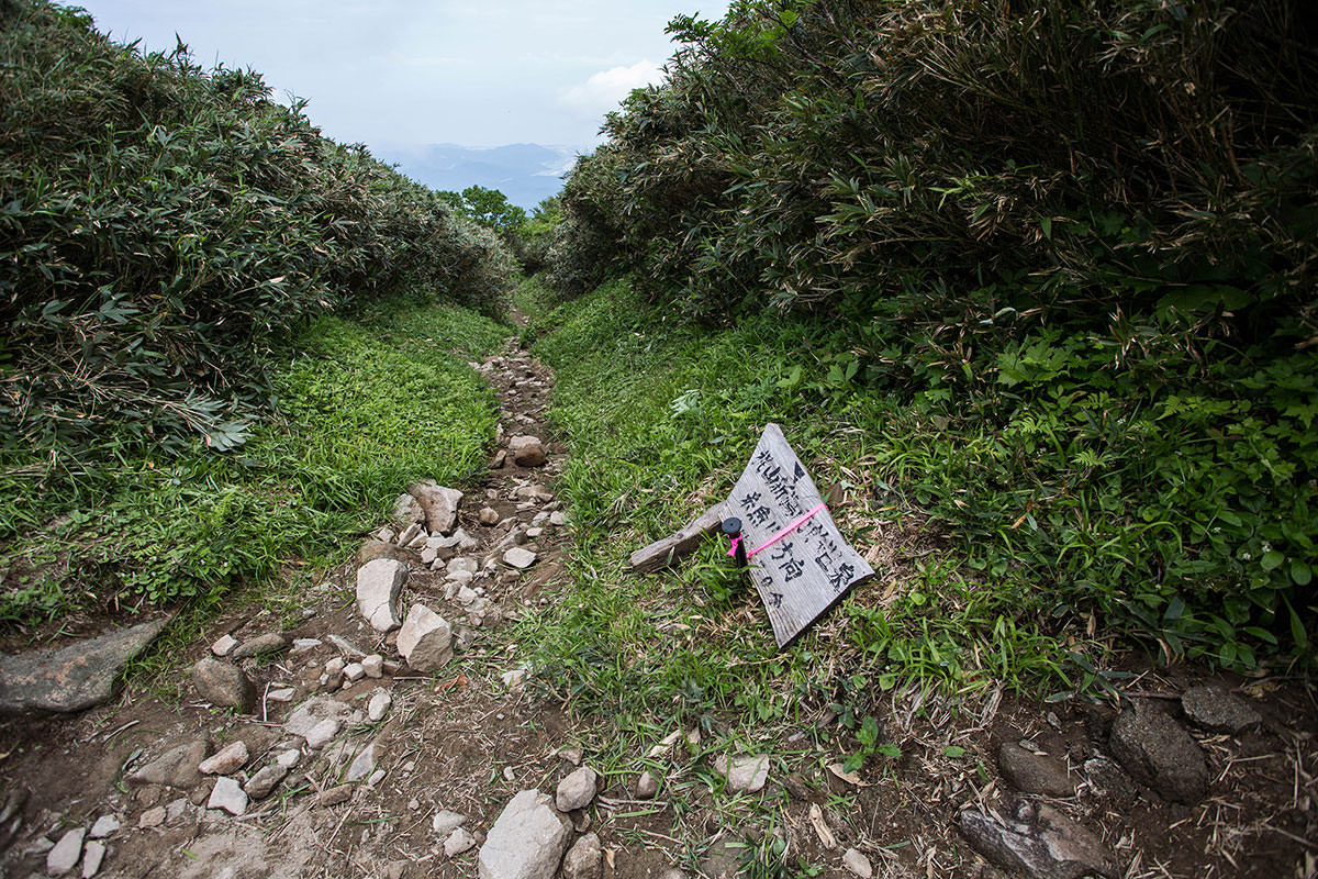 【雨飾山】登山百景-新潟からの合流地点