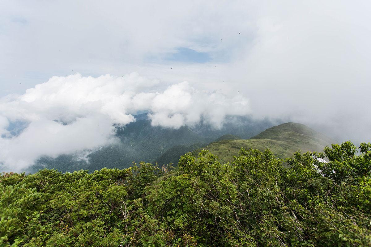 【雨飾山】登山百景-笹平の方