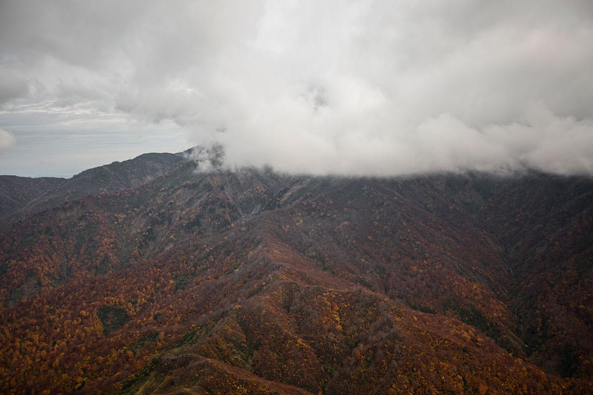 あの雲の中には焼山と金山と