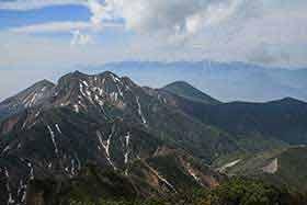 権現岳と編笠山
