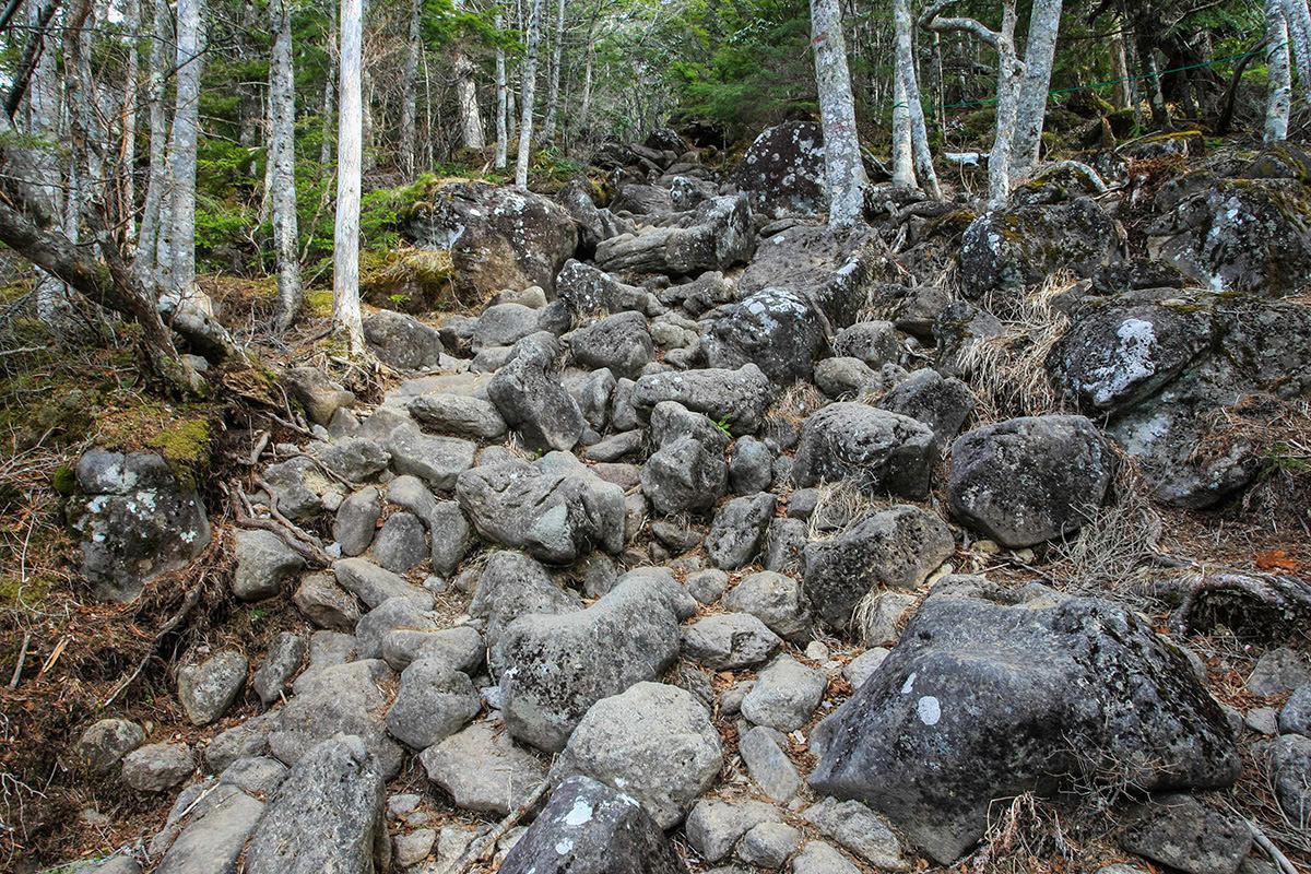 【編笠山 観音平】登山百景-さらに石は増える