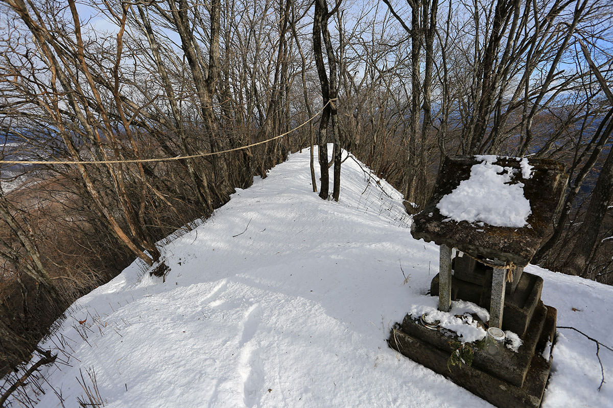 【荒船山 荒船不動】登山百景-山頂の北側