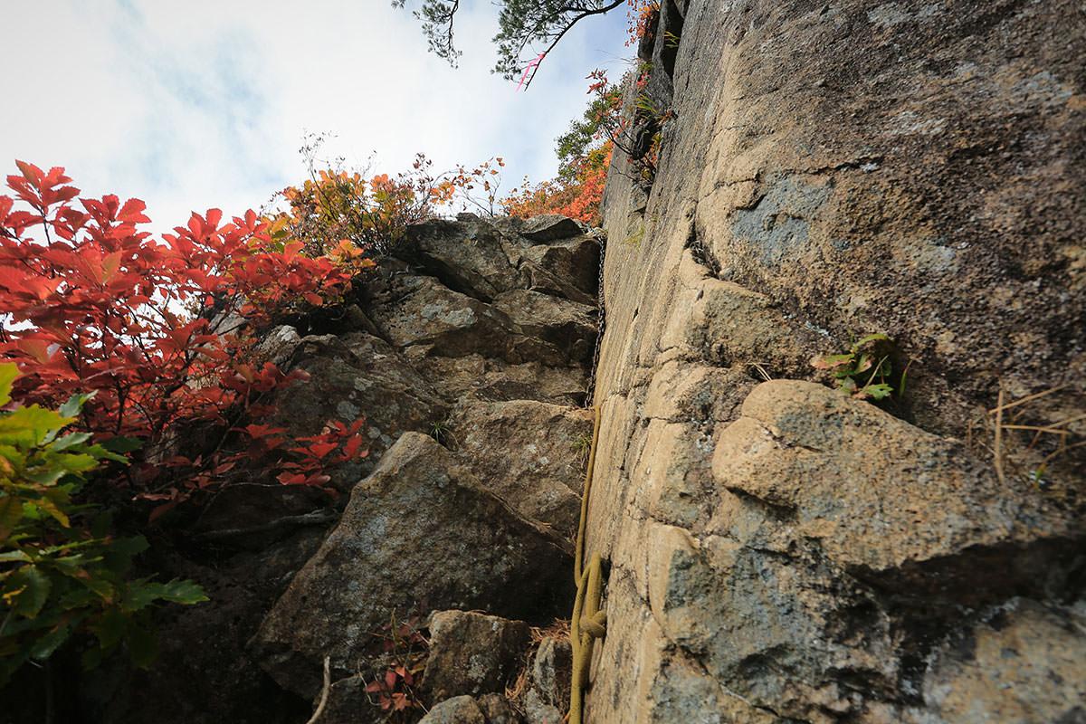 【荒沢岳】登山百景-ロープと鎖