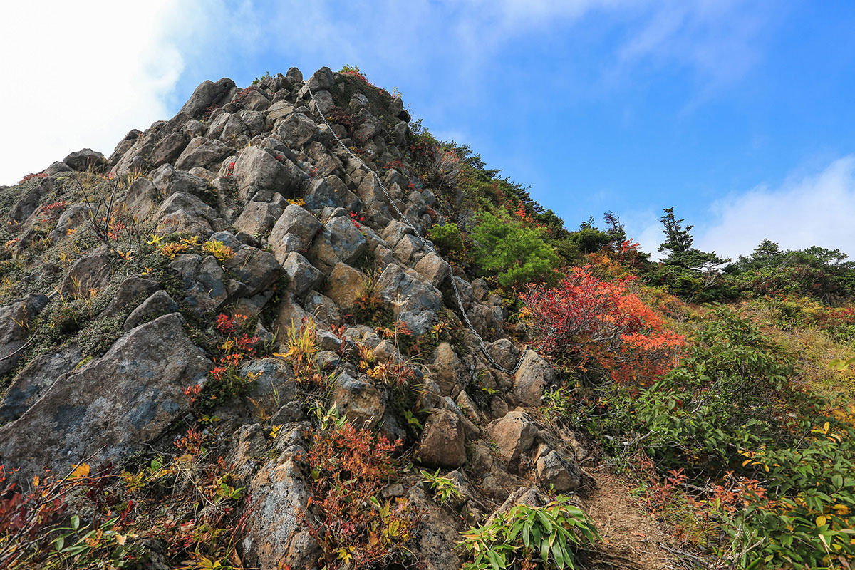 【荒沢岳】登山百景-最終鎖場