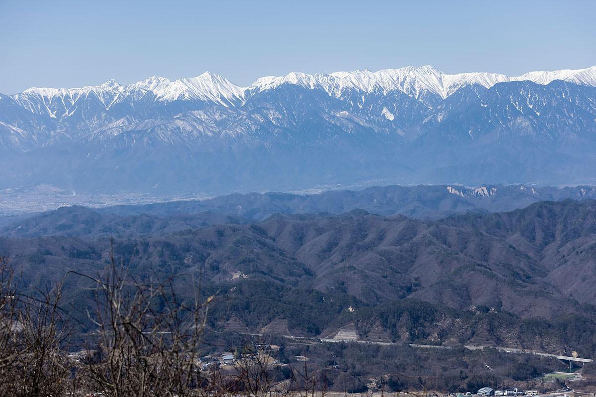 北アルプス南部の山々
