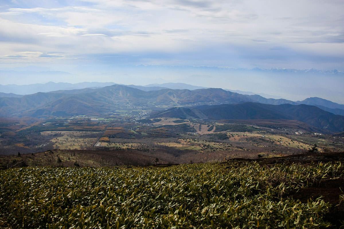 根子岳からの下山ルート