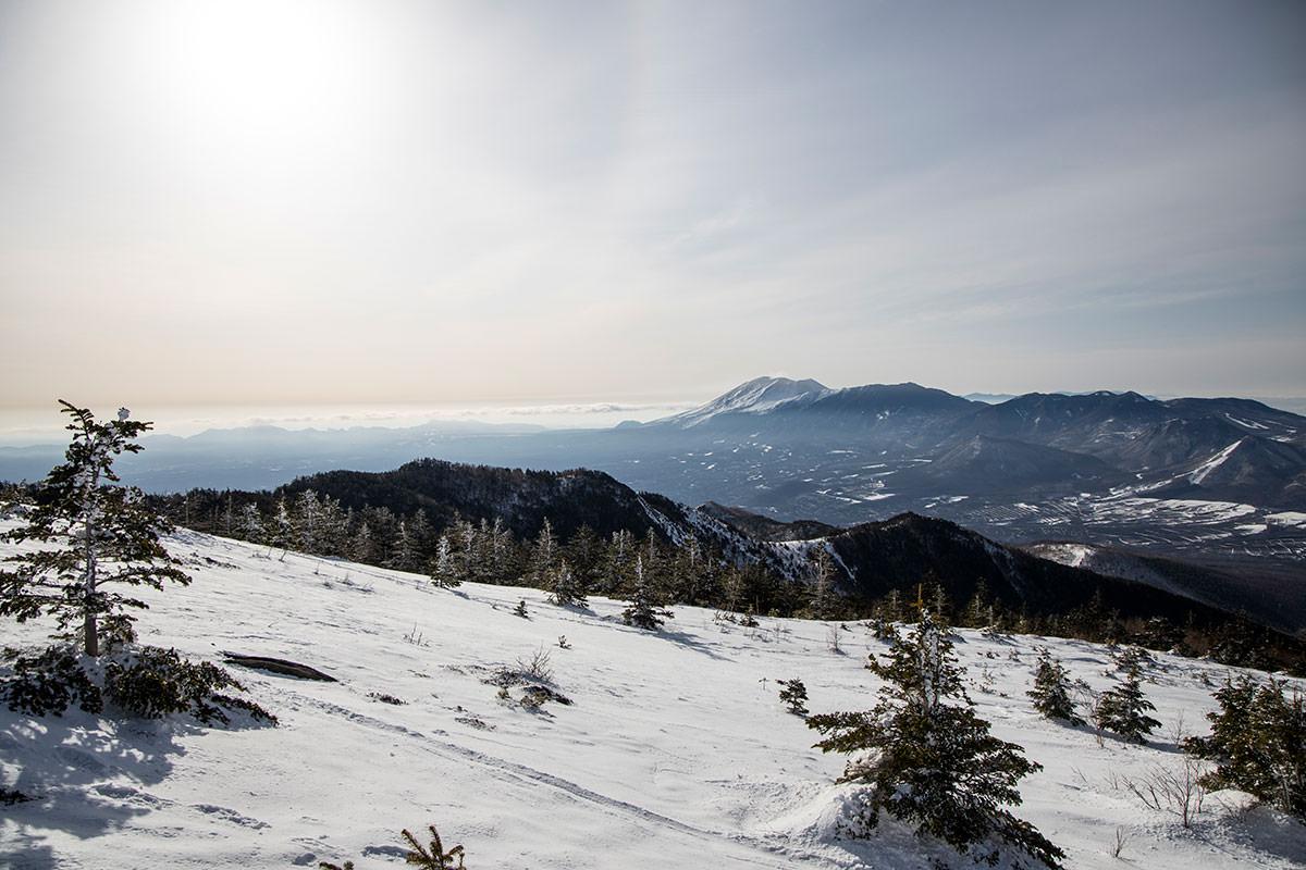浅間山は何度もチラチラ見てしまう