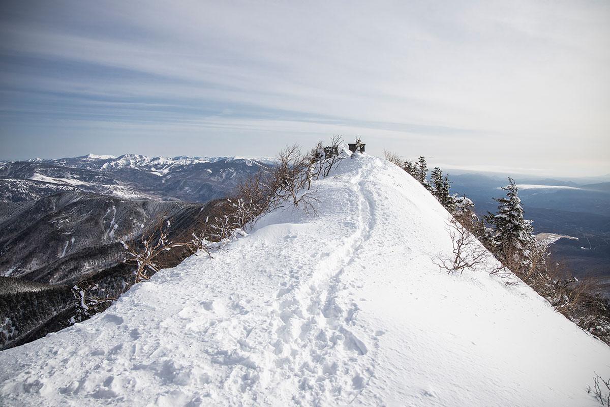 山頂までの僅かな距離が最高に気持ちが良い