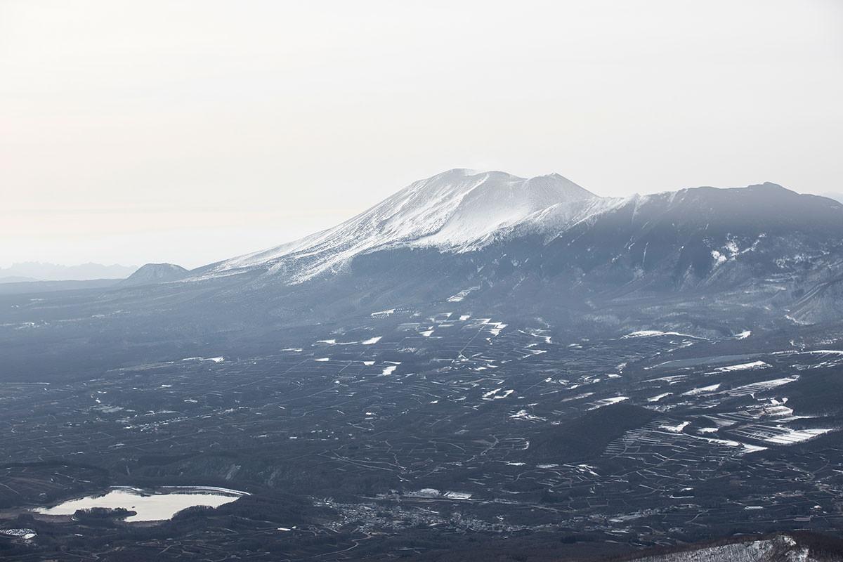 ずっと浅間山を見ながら登ってきた