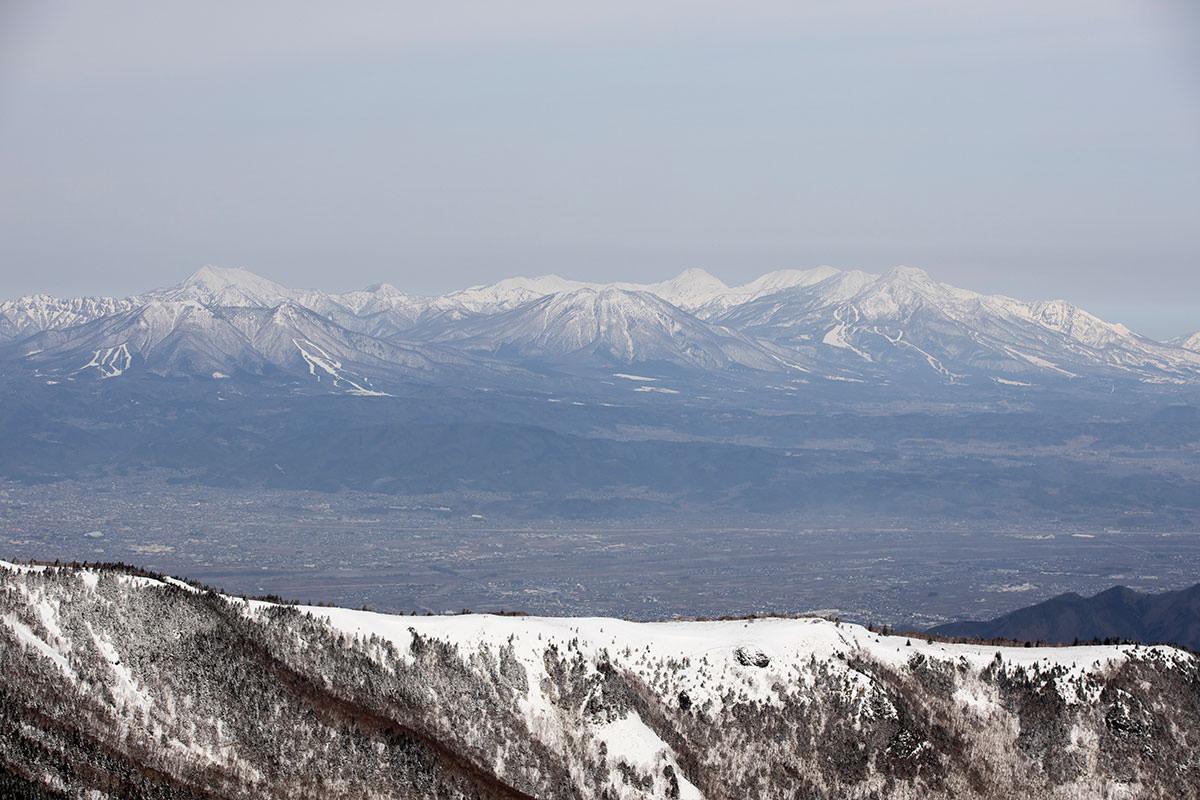 妙高山と黒姫山と飯縄山と高妻山