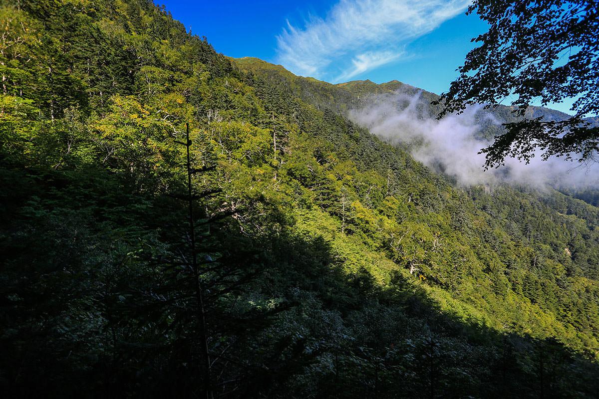 【蝶ヶ岳】登山百景-稜線が見える