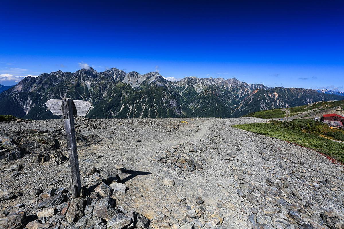 【蝶ヶ岳】登山百景-とても眺めが良い
