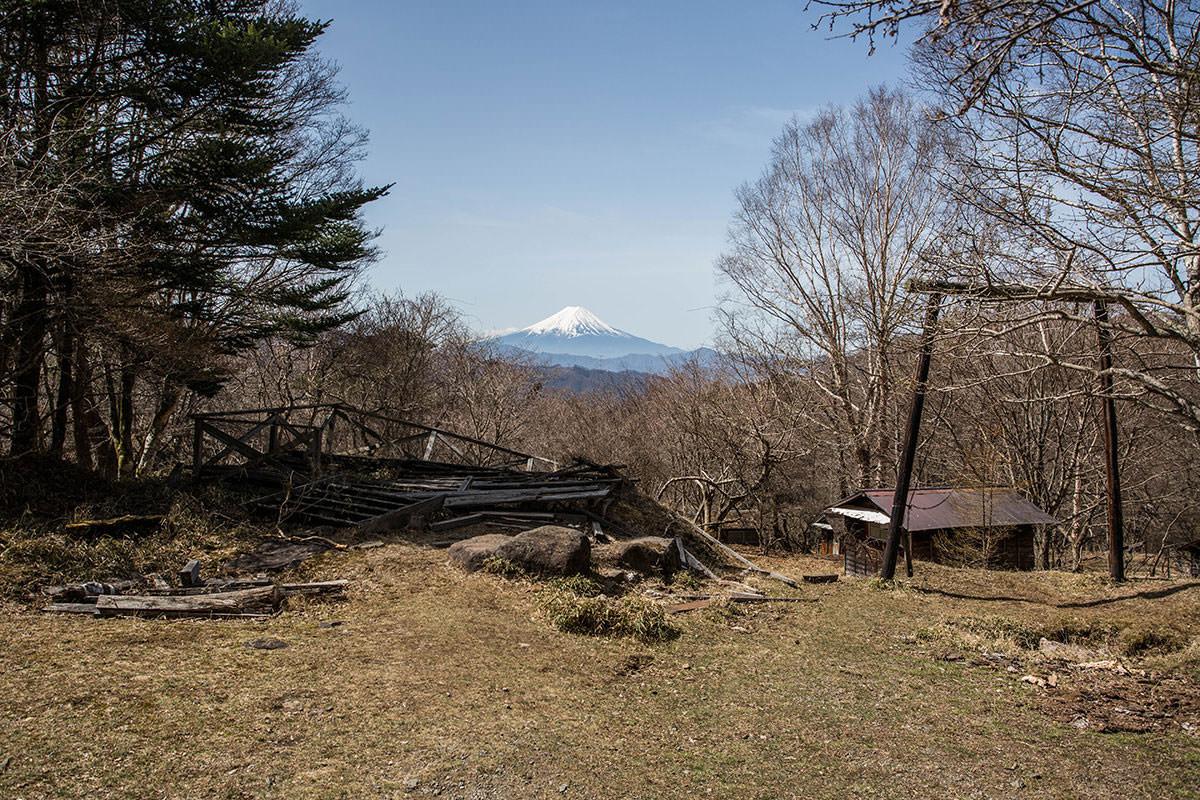 【大菩薩嶺 丸川峠分岐】登山百景-富士山見えた