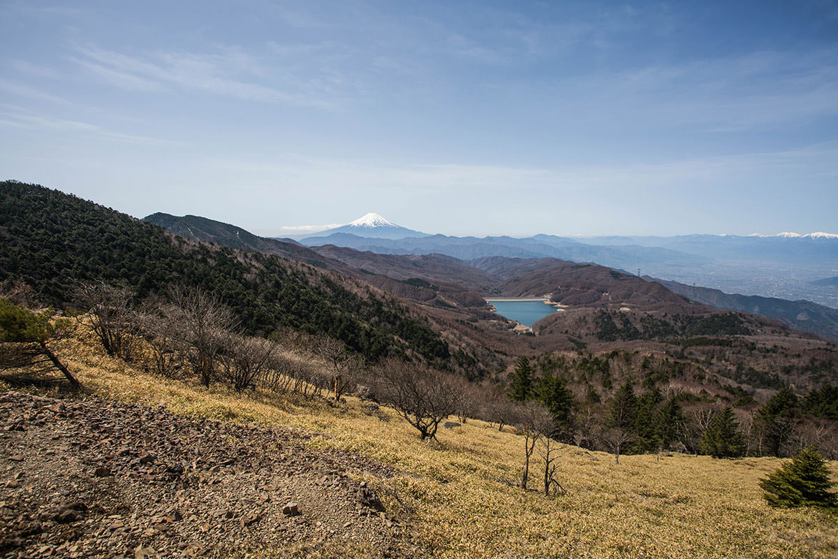 【大菩薩嶺 丸川峠分岐】登山百景-富士山も見える