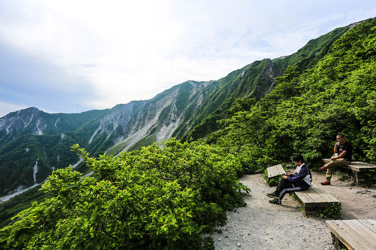【大山 夏山登山道】登山百景-六合目から稜線