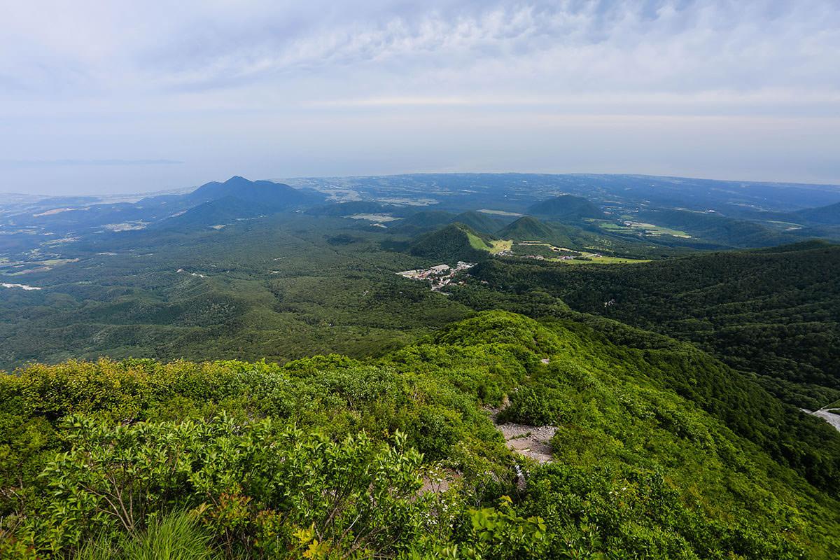 【大山 夏山登山道】登山百景-海がよく見える