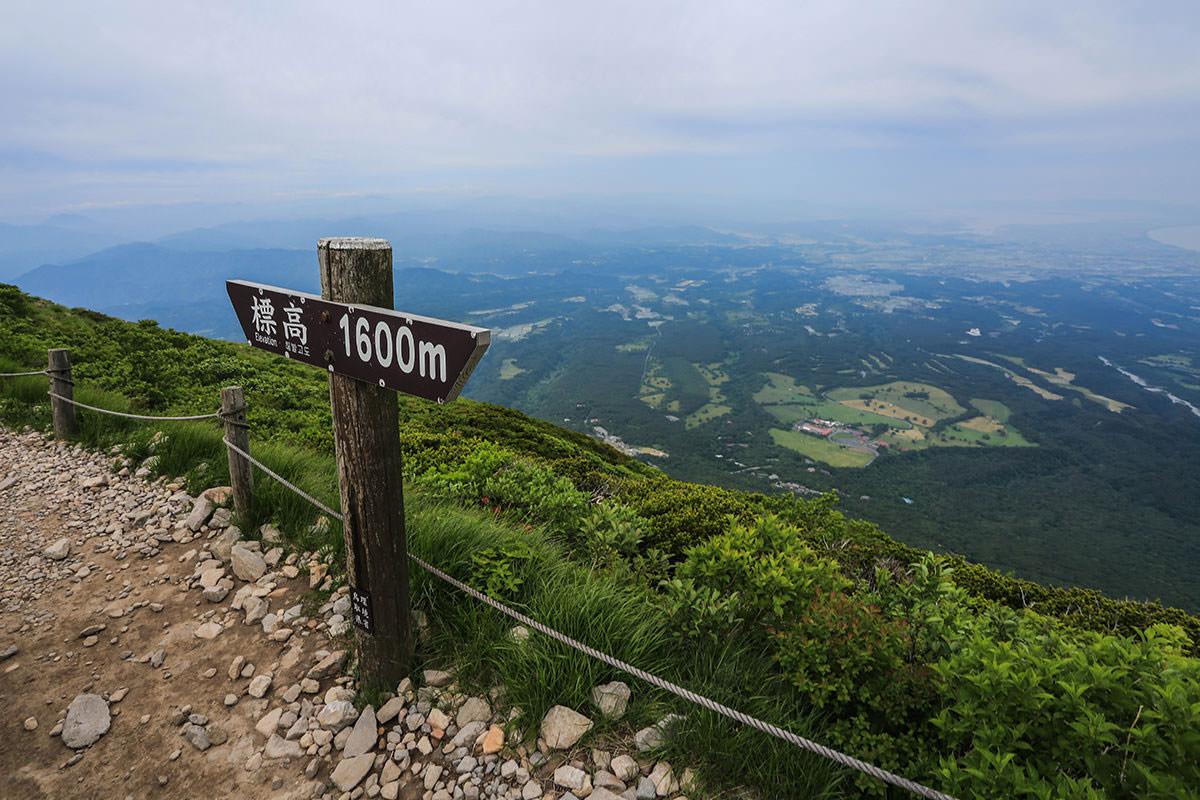 【大山 夏山登山道】登山百景-1600mは風が強くなる