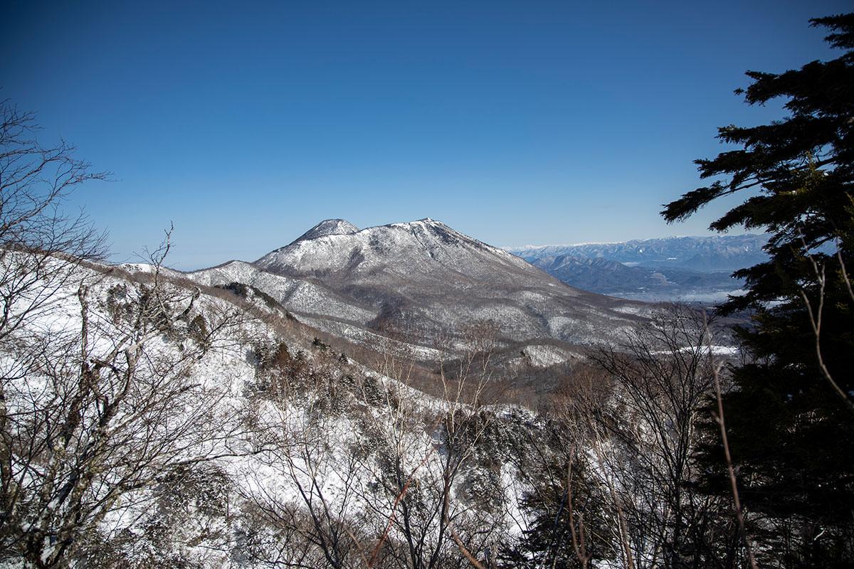 高妻山-黒姫山が見える