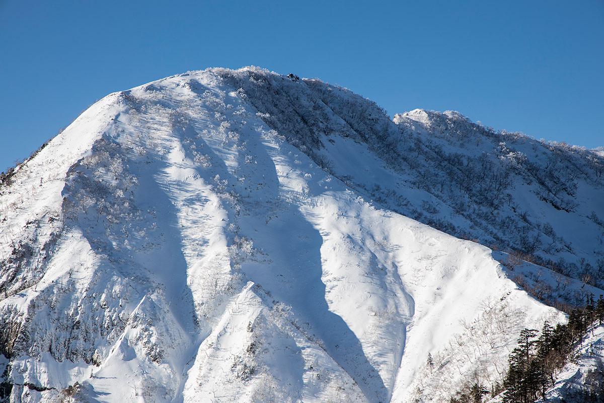 山頂には霧氷がある感じ