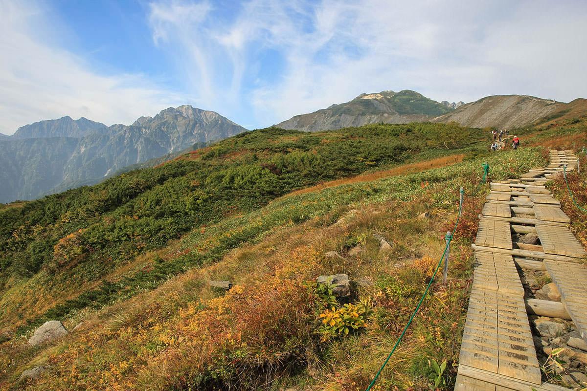 五竜岳と鹿島槍ヶ岳と