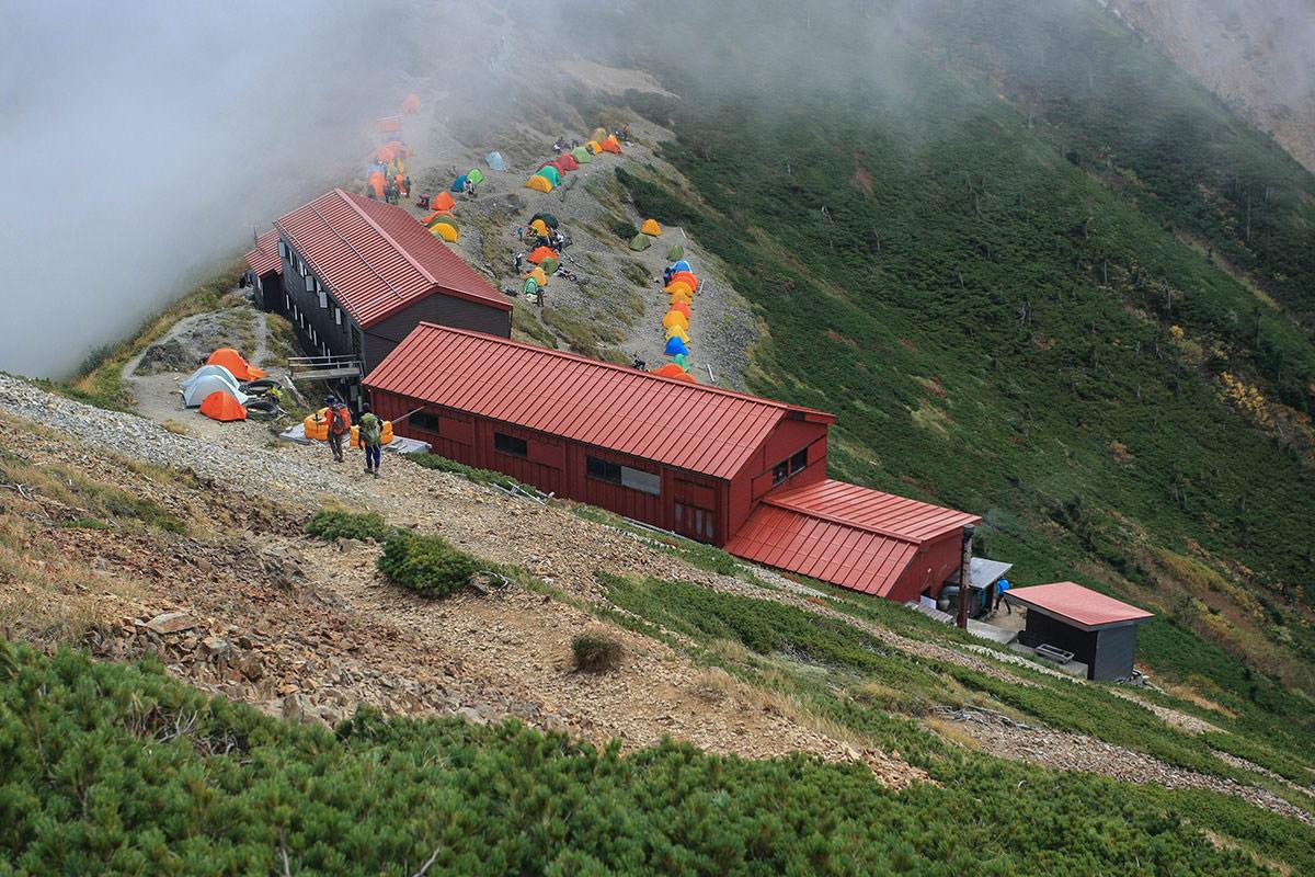五竜山荘に到着した頃には人がいっぱい