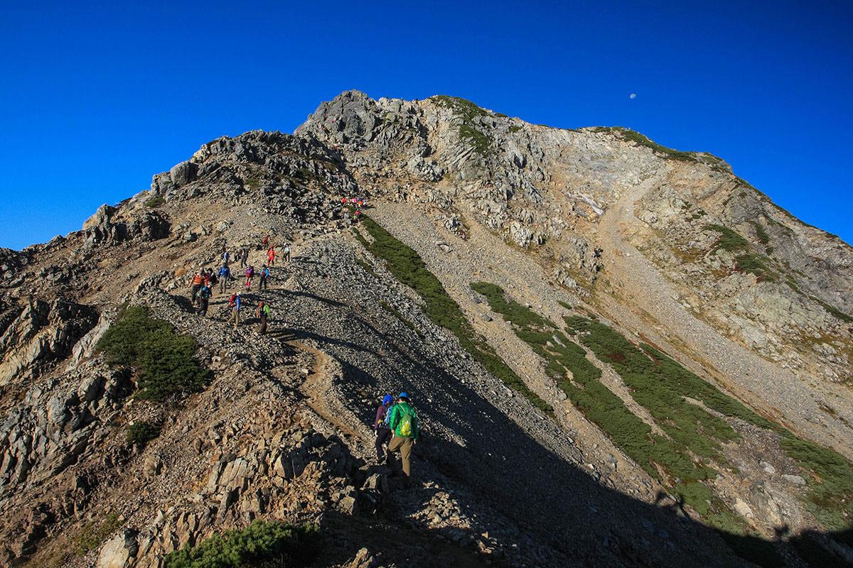 登山者の列