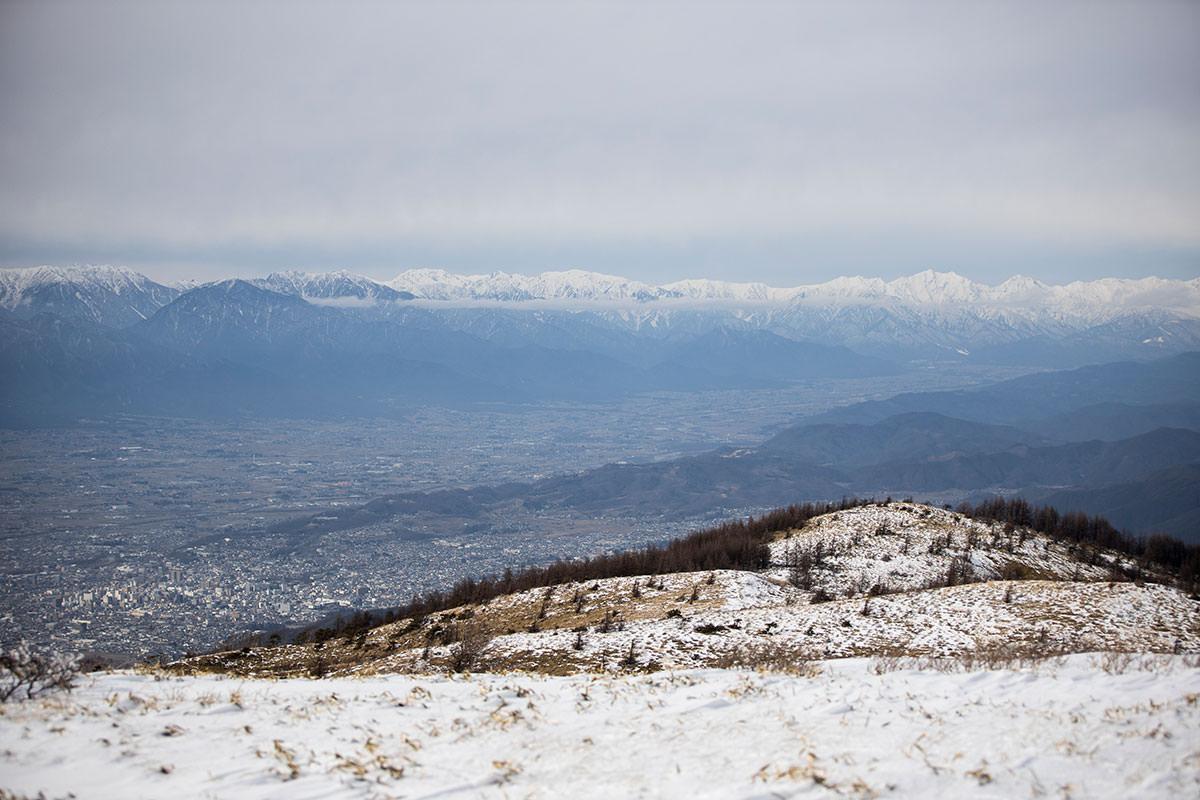 北アルプス後立山の方向