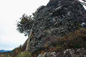 大日岳直下は垂直のハシゴ