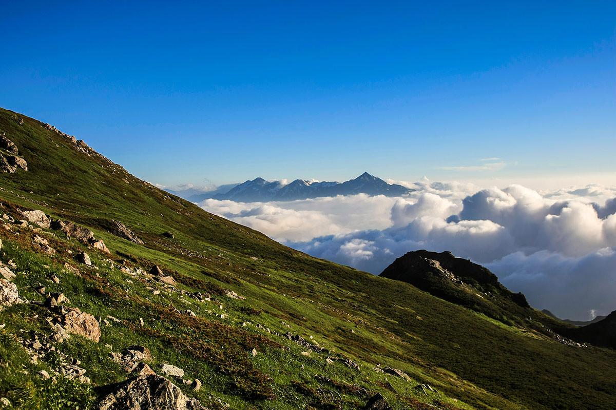 雲の上に劔・立山